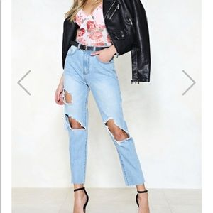 Momokrom tipped boyfriend jeans worn twice